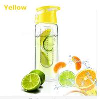800mL Sport High Quality BPA FREE Tritan Plastic Fruit Juice Infuser Water Bottle Flip Lid  Outdoor sport