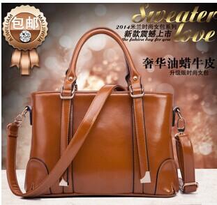 new 2015 Europe and America fashion thread women PU leather handbag tote bag one shoulder messenger bags RJ1386(China (Mainland))