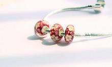 2015 hot DIY big hole 3D flower Murano beads apply to Fit Pandora Style Bracelets accessory