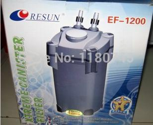 30W 1200L/Hr Aquarium Canister Filter Resun EF-1200U wiht UV LAMP FOR Fish Tank(China (Mainland))