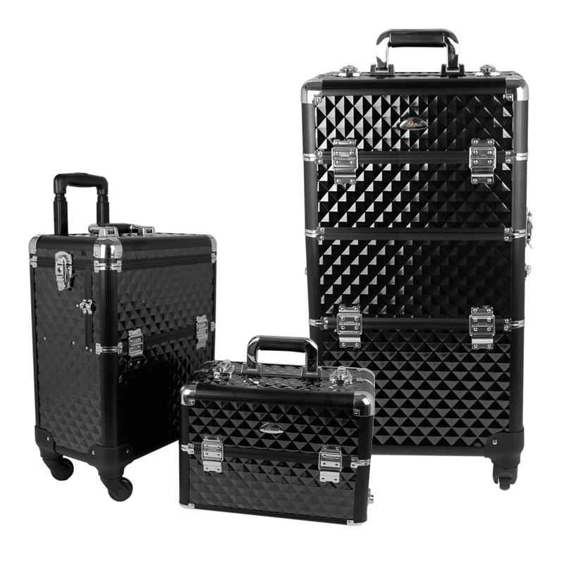 Multi-layer large capacity cosmetic bag professional trolley cosmetic box 2 1 box multi-purpose t805(China (Mainland))