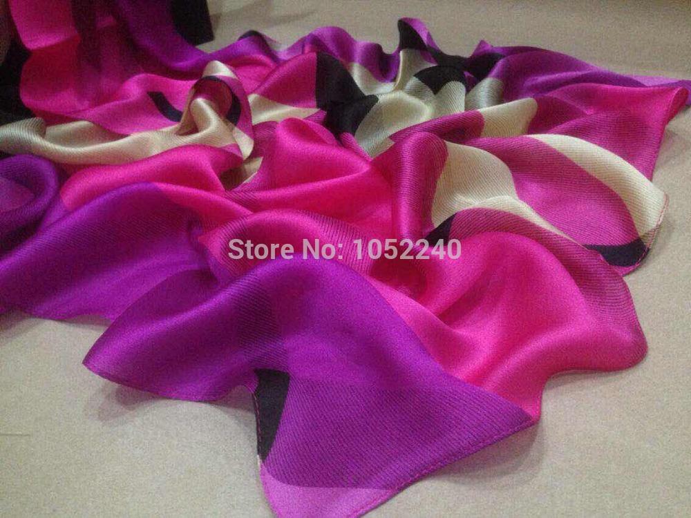 China Silk World ! 2015 New arrival plaid silk scarves female / 100% mulberry silk shawl / pure silk facecloth women(China (Mainland))