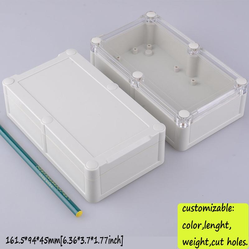 [Two Style] waterproof electronic enclosure diy plastic enclosure box for electronic ip66 abs junction box 161.5*94*45mm(China (Mainland))
