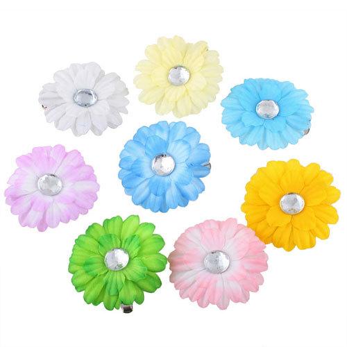 20 X Baby Hair Bow Gerbera Daisy Flower Headband Clip #2(China (Mainland))