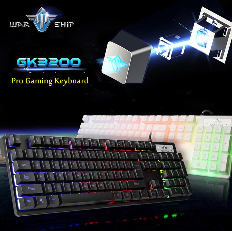 Профессиональных геймеров игры USB клавиатура проводная механическая LOL Dota 2 7 цвет подсветкой подсветка из светодиодов игры клавиатура для ноутбуков PC