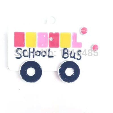 37x28mm 20pcs White SCHOOL Bus Pendant Bus Pendants Kawaii PENDANTS Chunky Necklace Pendants Back To School Gumball Beads P136(China (Mainland))