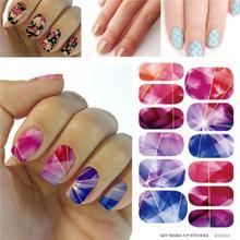 Harajuku Fashion Crystal Diamond Design Nail Art Stickers Minx Manicure Water Transfer Nail Decals Fingernails Decorations Tools