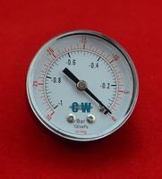 """2"""" 50mm brass vacuum -1bar,-0.1Mpa, pressure gauge ,vacuum 30 inHg,760mmHg manometer ,PT1/4"""" thread"""