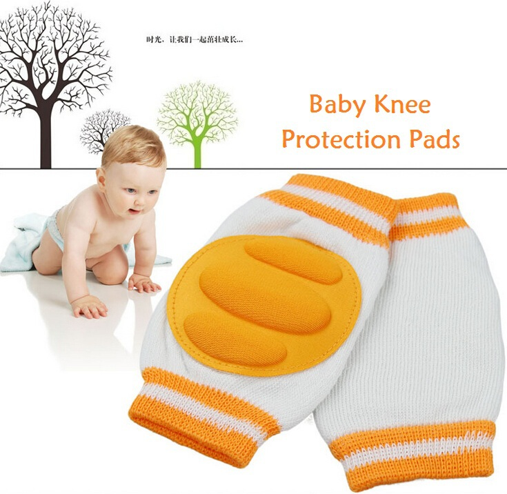New 1 Pair Comfortable Baby Kids Toddler Crawling Safety Protector Knee Caps Pads(China (Mainland))