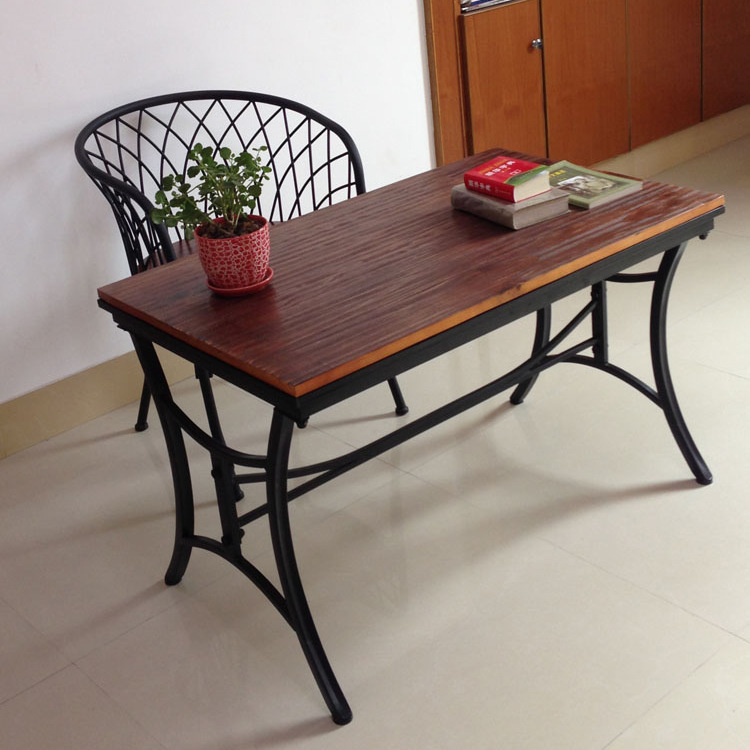 Jane Gang Wood Furniture Wrought Iron Tables And Chairs