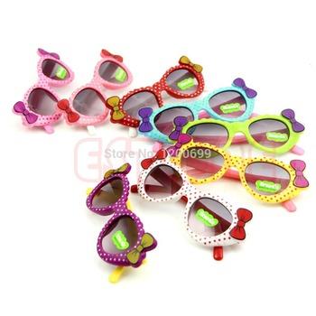 C18 горячая продажа милые мальчики девочки детские солнцезащитные очки стекло ребенок очки с бантом очки уф - 400 горячая бесплатная доставка
