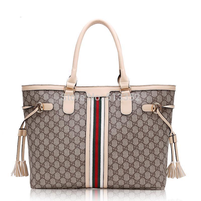 Free shipping Fashion women's handbag color block classic handbag pvc leather messenger bag big bag shoulder bag(China (Mainland))