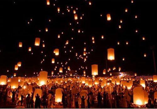 5PCS Paper SKY LANTERNS Flying Paper Sky Lanterns Free Shipping white Paper Chinese Lanterns(China (Mainland))