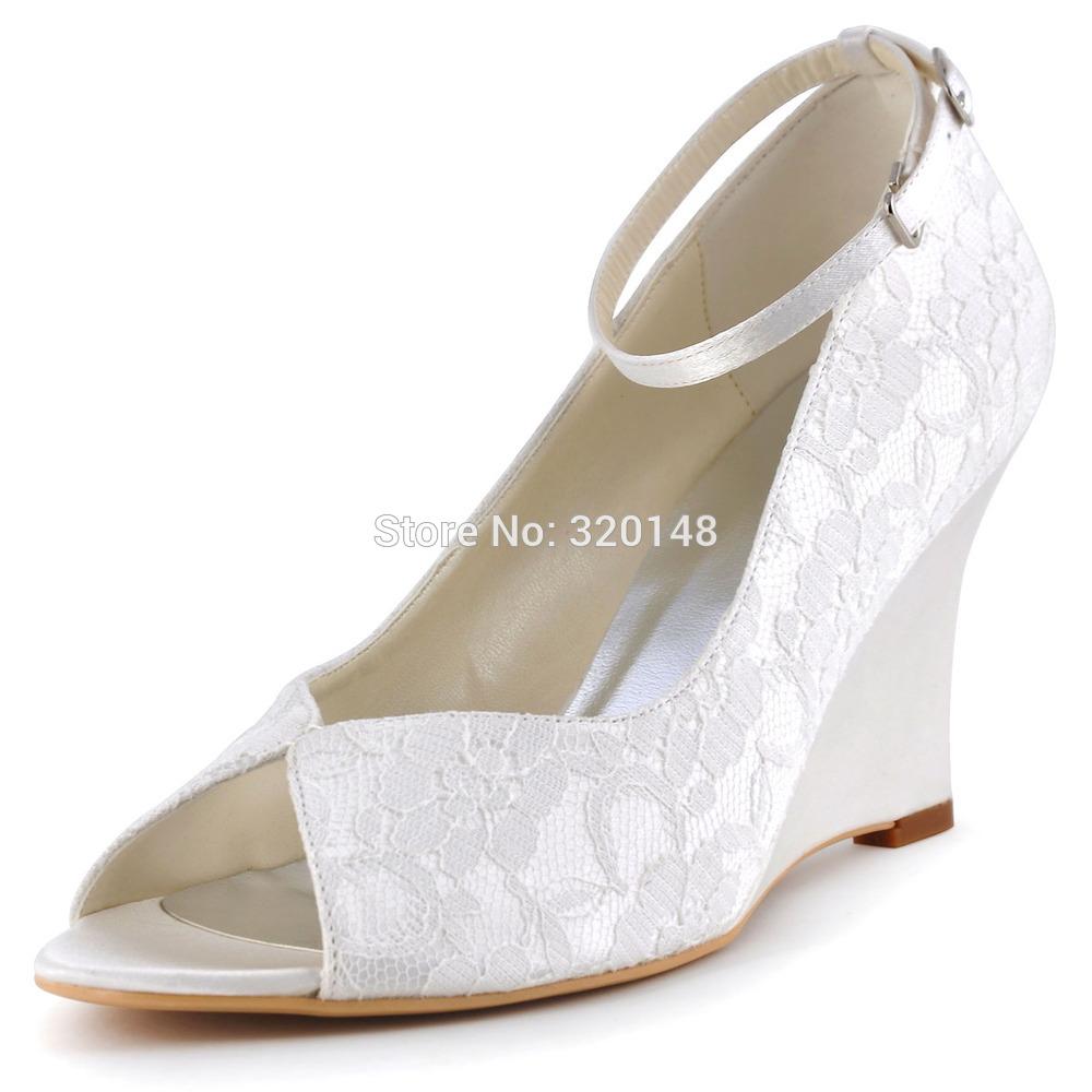 Cuñas zapatos de boda