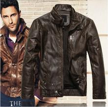 2015 New Arrivals Autumn Brand Leather Jacket Men Jaqueta Couro Masculino Bomber Leather Jacket Sheepskin Coat Motorcycle Jacket(China (Mainland))