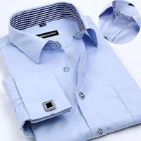Мужская классическая рубашка 2015 Slim Fit camisa masculina m/5xl M141229002