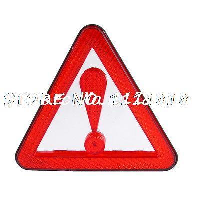 Plastic Road Block Emergency Reflection Traffic Warning Triangle Red(China (Mainland))
