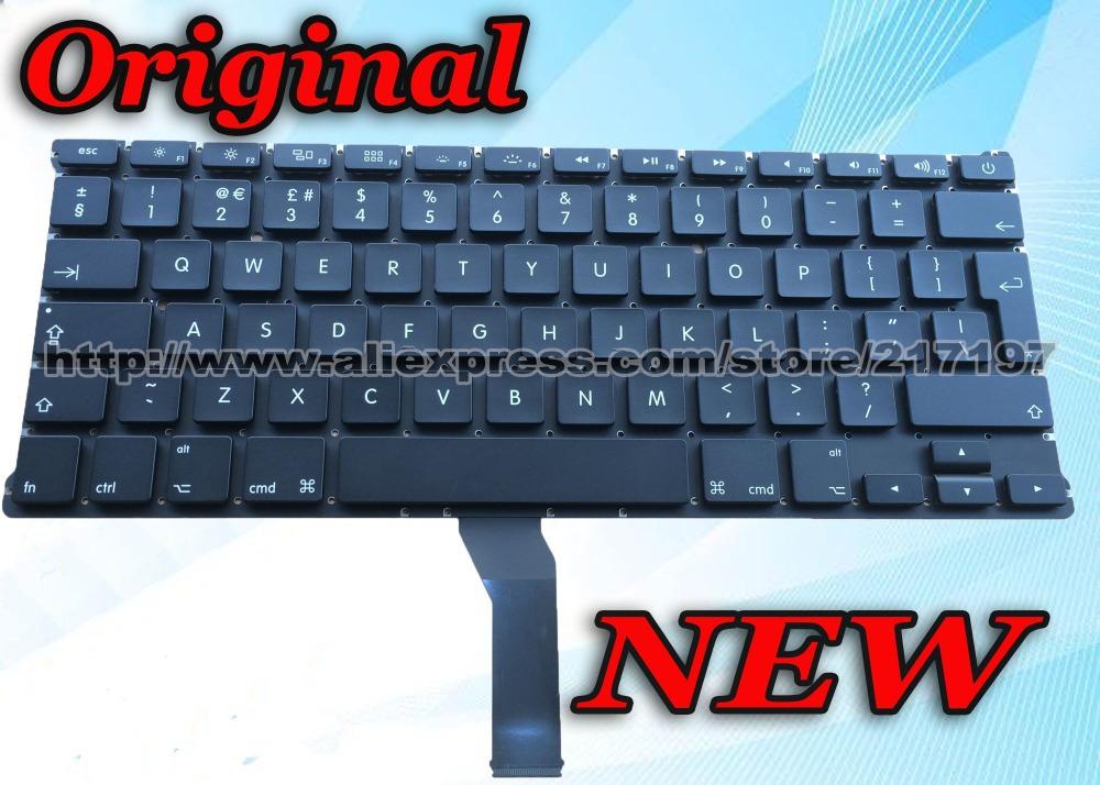 Original Keyboard For APPLE MacBook AIR 13 A1369 MC965 MD231ZP/A MD232ZP/A UK Laptop Keyboard Brand New(China (Mainland))