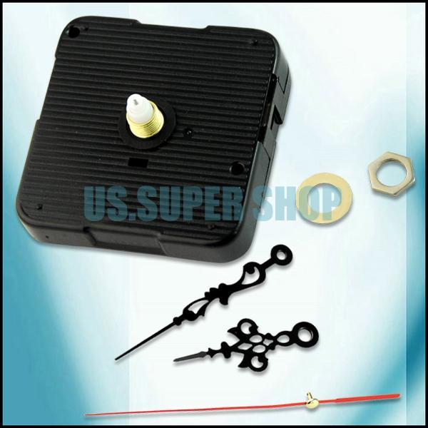 EN1560 5PCS/lot DIY Quartz Clock Movement/Motor Spindle Repair Part Kits + Three Metal Hands(China (Mainland))