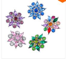 20PC/lot Snap Jewelry diy Rhinestone snap button Shaped Jewelry DIY fation  Snap Bracelet  charm button(China (Mainland))
