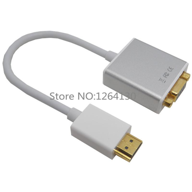 Aluminium HDMI To Output VGA 1080P HD + Audio Cable Converter ...