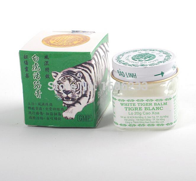 2pcs Vietnam 20g white tiger balm for Headache Toothache Stomachache baume tiger blanc cold dizziness essential balm(China (Mainland))