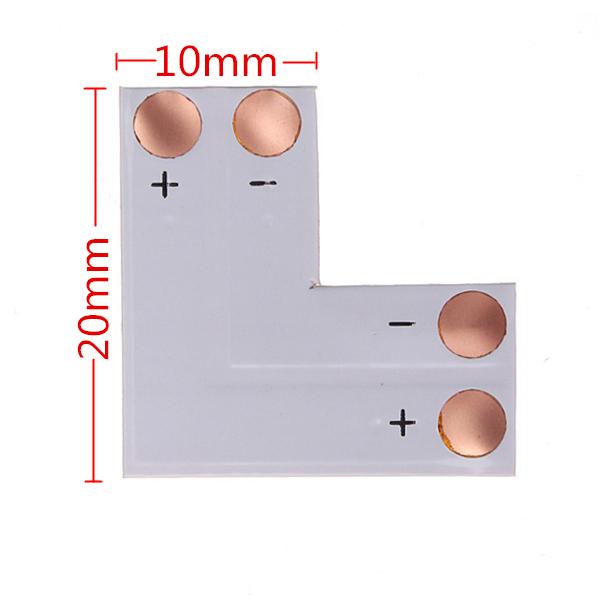 Гаджет   2pin LED Connector L Shape Corner For 10mm 5050 LED Strip Light None Электротехническое оборудование и материалы