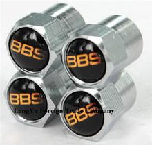 4caps/set mini-design automobile wheel tire tyre valve stem caps air dust covers BBS logo badge emblem