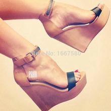 Shoesofdream Women's Concise Ankle Strap Comfortable Sandalias Wedges Op