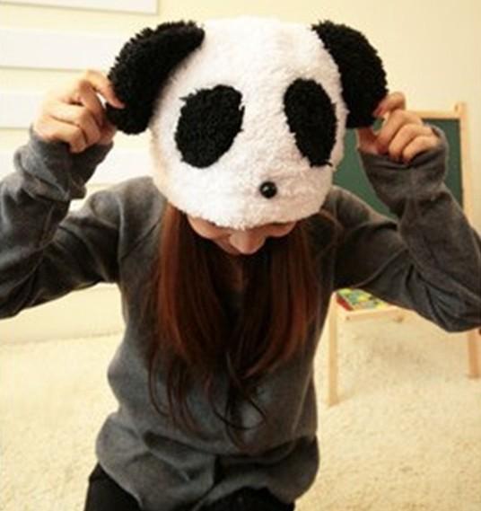 2015 Fashion Kung Fu Panda Hats for Women Bonnet Velvet Ear Warm Winter Cap Men Cute
