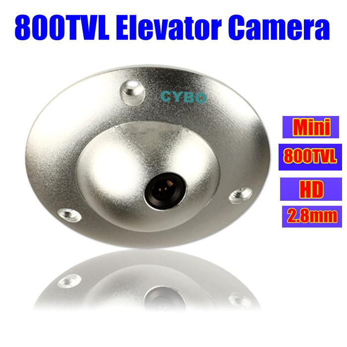 CMOS Color 2.8mm CCTV Security Camera mini wide angle 800TVL HD Video suveillance elevator lift cameras UFO(China (Mainland))