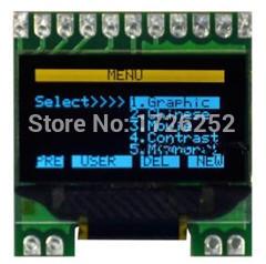 0.96 inch 11PIN Yellow Blue OLED Screen SSD1306 Drive IC 128*64 (No Chinese Font)(China (Mainland))