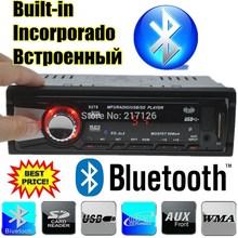 Радио стерео Bluetooth телефон AUX-IN FM / USB / 1 Din / дистанционного управления для iPhone / Samsung андроид 12 V аудио радиоприемников