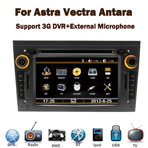 2Din Car DVD GPS Opel Astra h Vectra Antara Corsa Zafira GPS Bluetooth TV Radio RDS USB IPOD Steering wheel Free map(China (Mainland))
