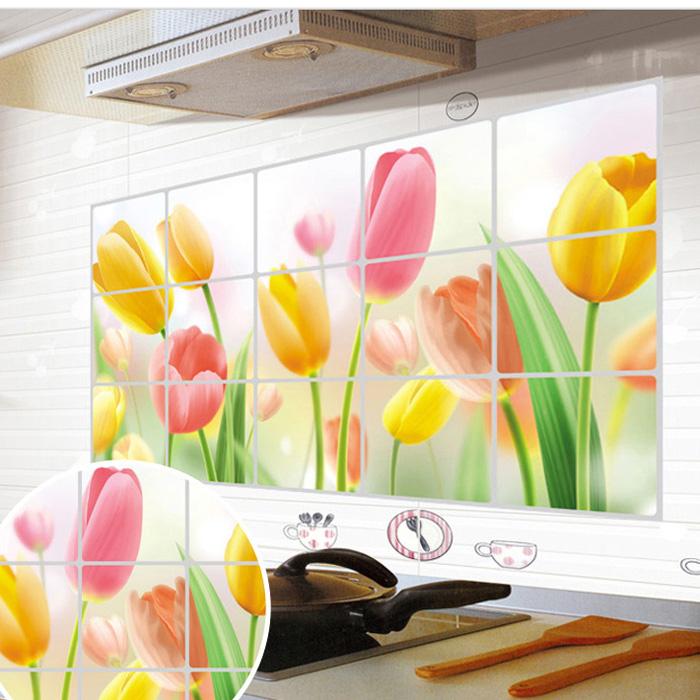 Keuken Decoratie Stickers : keuken tegel decoratie muur stickers lijmen behang porselein