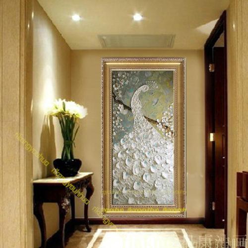 Online kopen wholesale pauw geschilderd uit china pauw geschilderd groothandel - Deco muur corridor ...