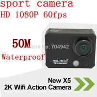 2015 new product  mini Sport Camera 50M Waterproof Action Camera Full HD 1080P