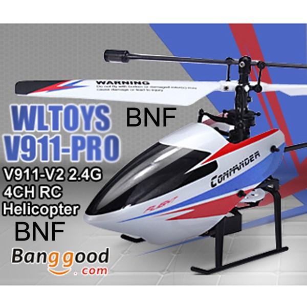 Upgraded WLtoys V911pro V911-V2 2.4G 4CH Single Propeller RC Helicopter GYRO BNF(China (Mainland))