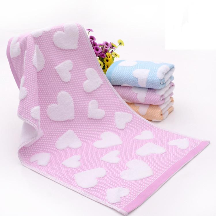 100% cotton ultra soft massifs Jacquard towel face towel pillow covers 34*74cm(China (Mainland))
