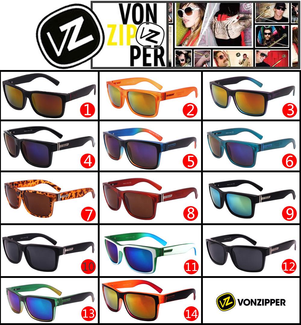 2015 new Brand Men's Von Zipper Sunglasses Sport Cyling Glasses Vonzipper ELMORE oculos de sol masculino gafas with Original Box(China (Mainland))