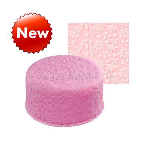 Daisy silicone impression mat,embossed mat,fondant cake decoration pad(China (Mainland))