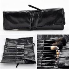 Professional 9 pcs Makeup Brushes Set Stylish foundation brush Makeup Tools Kits pincei Free Leather Black