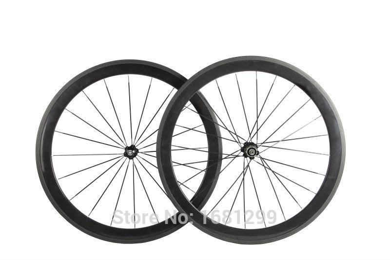 50mm clincher rim road bike 3k ud 12k full carbon bicycle wheelsets