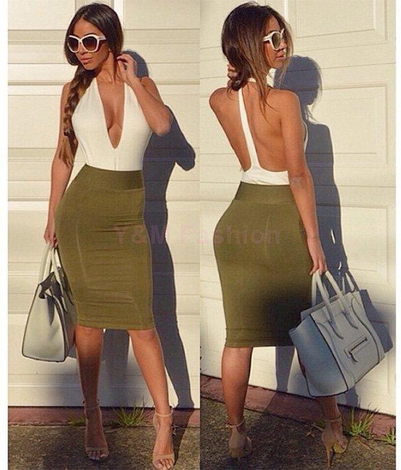 Женское платье Backless bandage dress 2015 v/bodycon T-SV013530 женское платье new fashion 2 2015 v bodycon bandage dress
