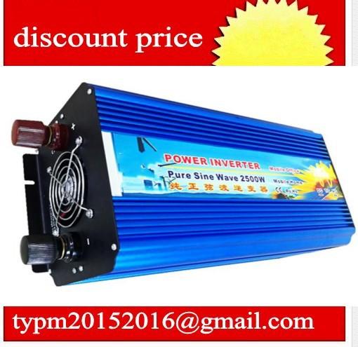 DC 24V to AC 120V 2500w pure sine wave power car inverter invertor DHL FEDEX power supply(China (Mainland))