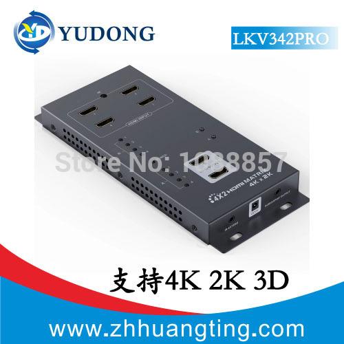 HDMI YuDong 4 x 2 HDMI v1.4 Splitter 3D HD 10.2gbps DVD HDtv 4Kx2K Remote 342 блокада 2 dvd