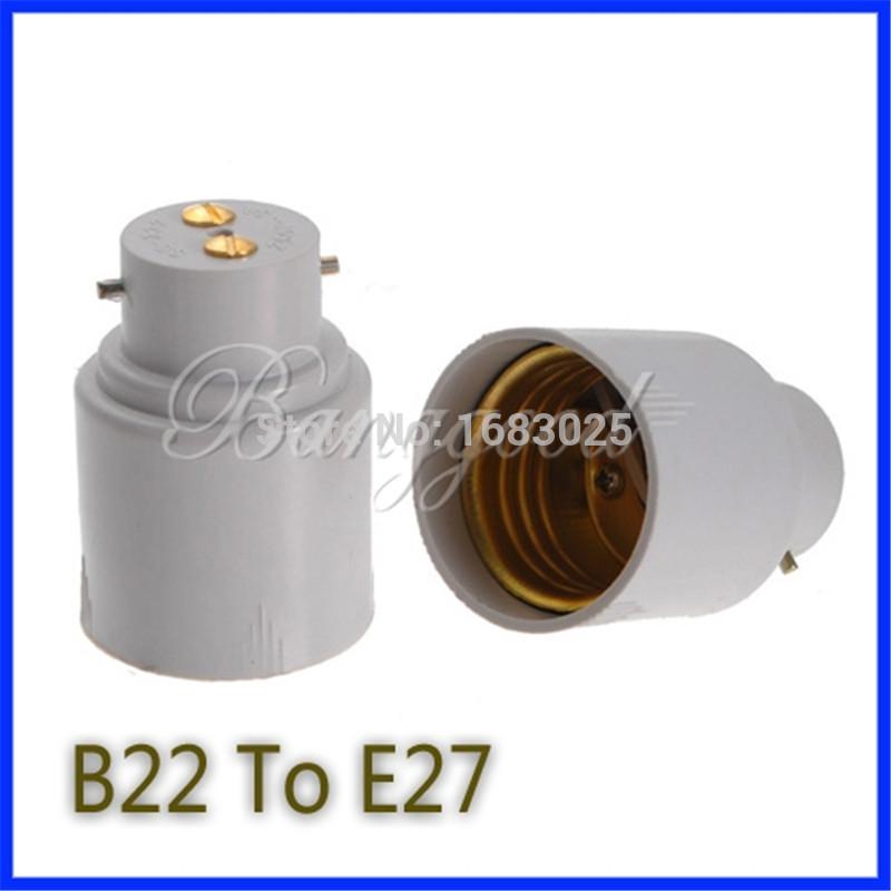 Big Promortion B22 to E27 Base LED Light Lamp Bulb Fireproof Holder Adapter Converter Socket Change(China (Mainland))