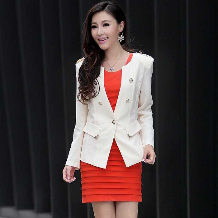 Metallic Suit Jacket Sleeve Suit Jacket Without