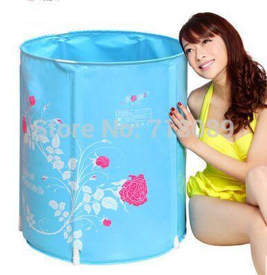 Thickening adult inflatable bathtub folding tub bathtub plastic bath bucket bath bucket bath bucket 190(China (Mainland))