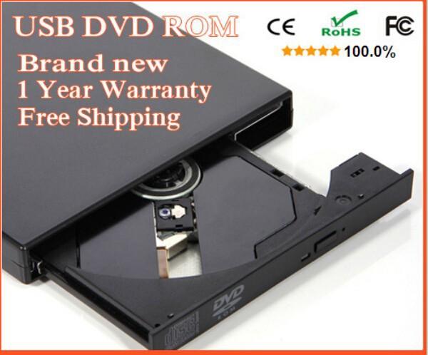DVD-ROM USB 2.0 External DVD ROM Drive USB DVD CD Drive Optical Drive External Player DVD Reader free shipping(China (Mainland))